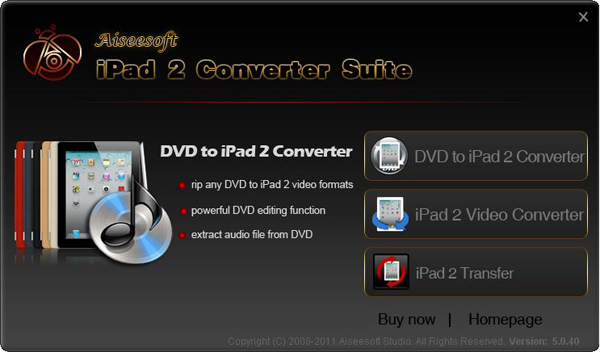 iPad 2 Converter Suite screen